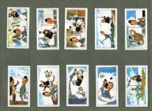 TRADE/ cigarette cards set Laurel & Hardy 1968